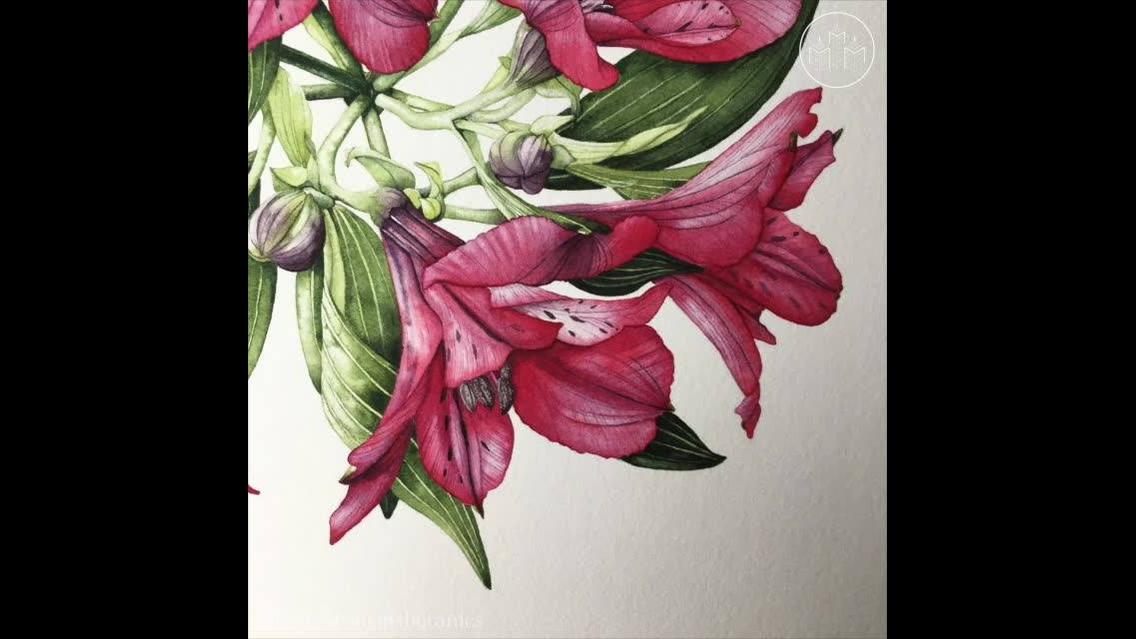 Desenho impecável de flores