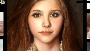 Desenho Maravilhoso Da Atris Chloë Grace Moretz, É Impressionante!