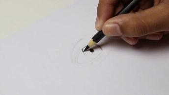 Desenho Passo A Passo De Um Olho Super Realista, Para Você Que Quer Aprender!