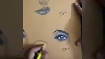 Desenhos De Olhos Perfeitos, A Prática Leva A Perfeição!
