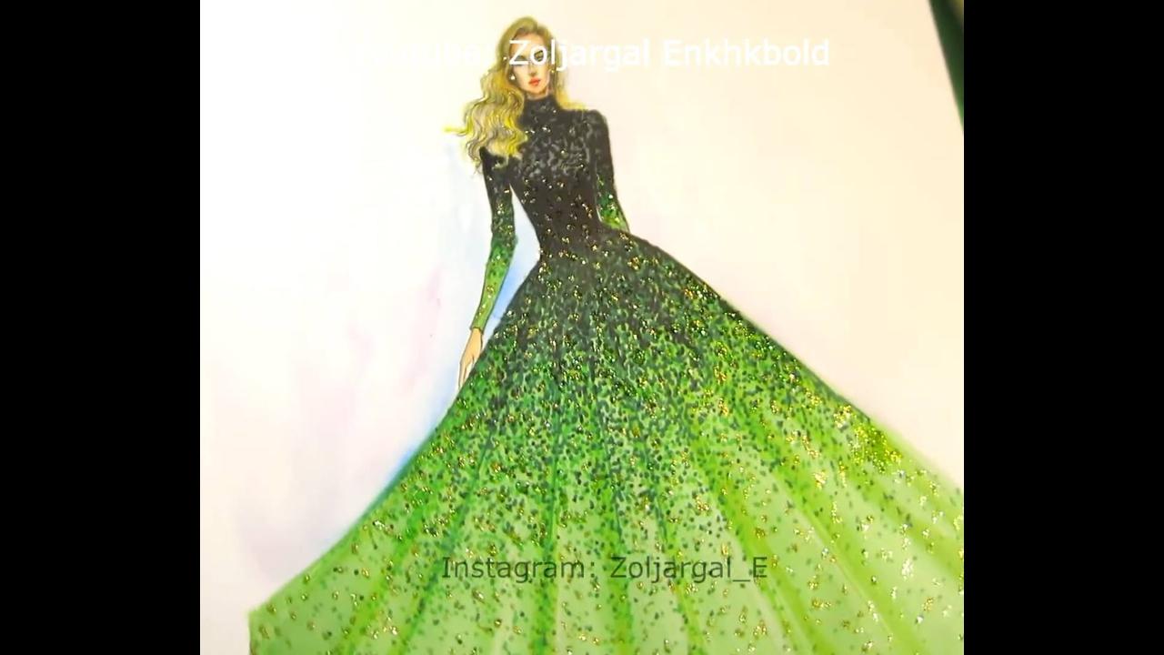 Desenhos maravilhosos de vestidos de festas