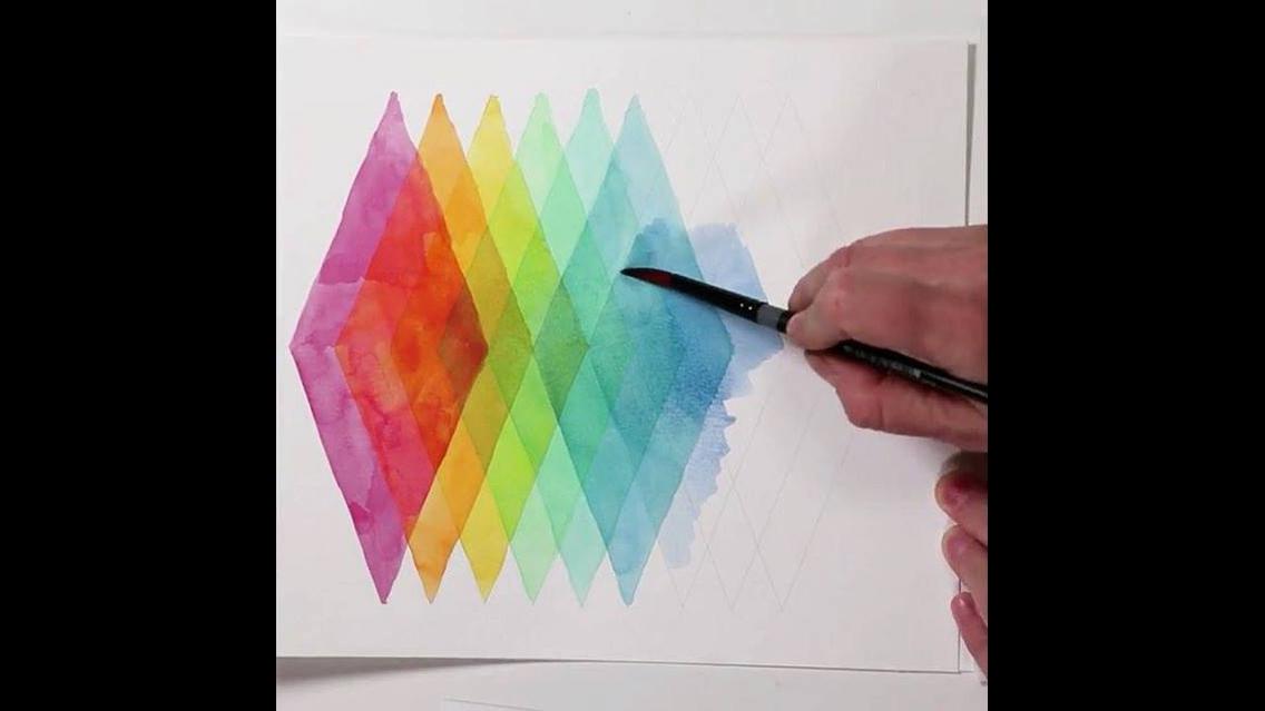 Figuras geométricas feitas paralelas, com cores lindas!