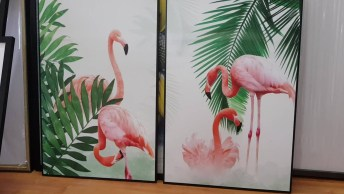 Flamingos Desenhados Em Tela, Vale A Pena Conferir E Compartilhar!