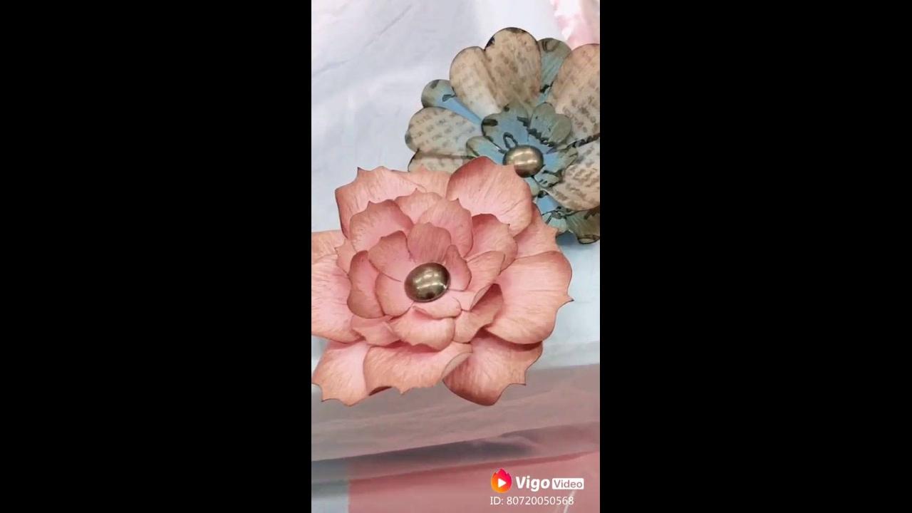 Flor de papel reciclável, o resultado é super lindo