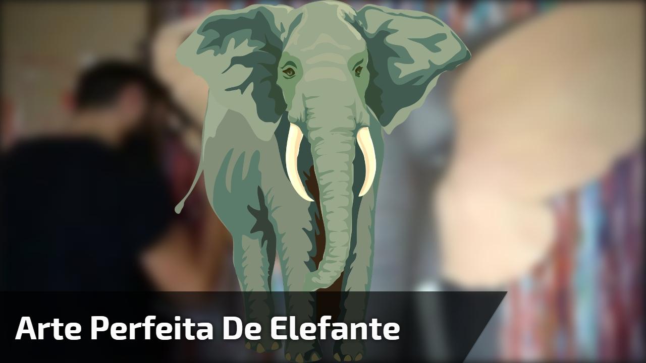 Arte perfeita de elefante