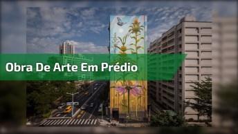 Linda Obra De Arte Feita Em Um Prédio, Olha Só Este Desenho Cheio De Detalhes!