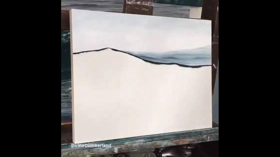Linda obra de arte na tela