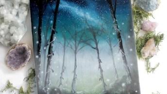 Lindo Quadro Com Paisagem De Céu A Noite, Uma Arte Incrível!