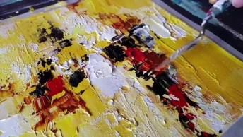 Obra De Arte Abstrata, O Resultado É Maravilhoso, Confira!
