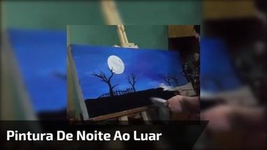 Obra De Arte De Noite Ao Luar, Olha Só Que Coisa Mais Linda Esta Pintura!