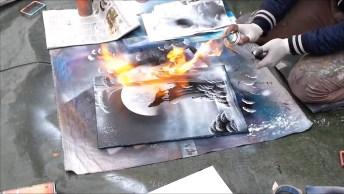 Obra De Arte Feita Com Spray, Você Vai Amar O Resultado, Confira!