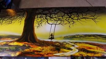 Obra De Arte Feita Com Tinta Em Spray, Olha Só Que Coisa Mais Linda!