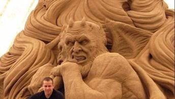 Obra De Arte Na Areia, Olha Só Que Espetáculo Os Detalhes Deste Artista!