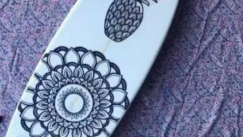 Obra De Arte Na Prancha De Surf, Que Trabalho Lindo, Confira!
