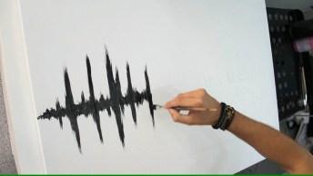 Obra De Arte Que Representa O Amor Pela Música, Que Desenho Mais Incrível!