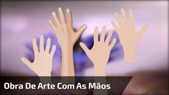 Obras De Artes Feito Com As Mãos, Que Lindo Trabalho, Vale A Pena!