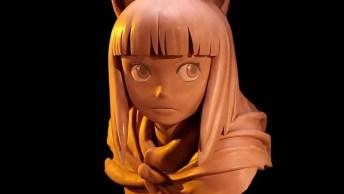 Personagem De Anime Feito Manualmente, Uma Obra De Arte Incrível!