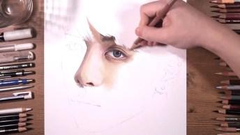 Pintura De Retrato Mais Perfeita Que Você Verá Hoje, Que Lindo!