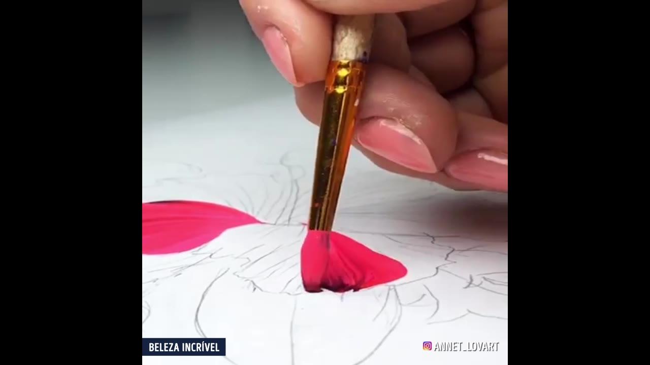 Pintura é arte, veja que talento incrível na hora de pintar