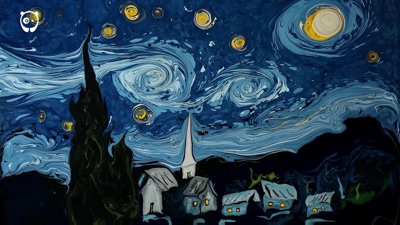 Pintura feita na água, veja até o final e se surpreenda