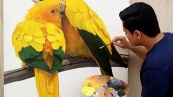Pintura Na Tela, Um Desenho Maravilhoso Que Representa O Brasil!