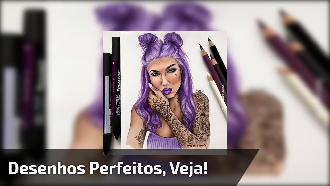 Pinturas de desenhos femininos que ficaram perfeitos, confira os resultados!