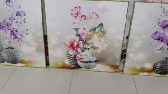 Pinturas De Flores Em Vasos, Olha Só Que Lindos Estes Quadros!
