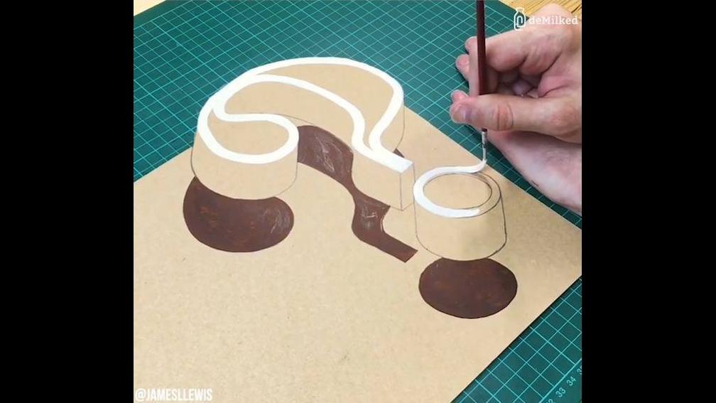Pinturas em 3D, olha só que trabalho super legal