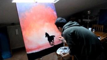 Quadro De Cavalo Com Efeito Que Você Nunca Viu, Olha Só Que Imagem!