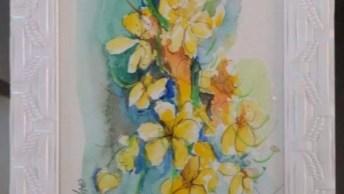 Quadros Com Flores Amarelas, Um Lindo Trabalho Para Decoara A Sua Casa!