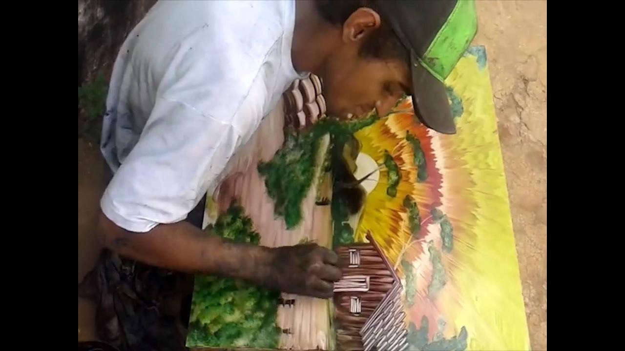 Sensacional obra de artista de rua