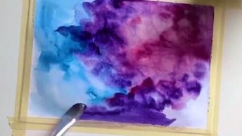 Técnica De Pintar Com Tinta E Água, Olha Só Que Perfeição Este Desenho!