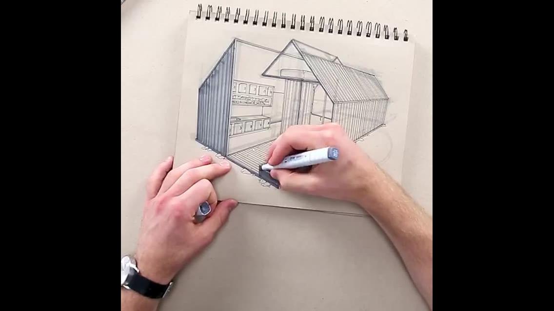 Técnica em desenho de designer impressiona