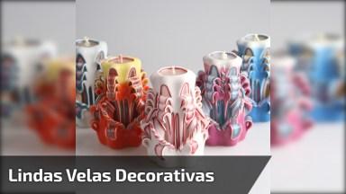 Velas Decorativas Nível Hard, São Verdadeiras Obras De Arte!