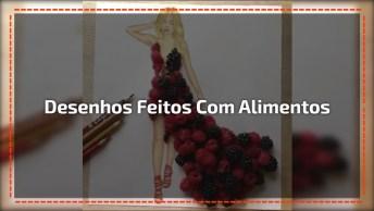 Vestidos De Desenhos Feitos Com Alimentos, Uma Obra De Arte Diferente!