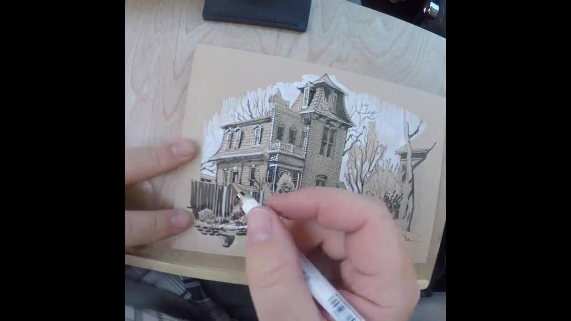 Vídeo com desenho que é uma perfeita obra de arte