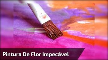 Vídeo Com Desenhos Maravilhoso De Uma Flor Com Uma Técnica Impecável!