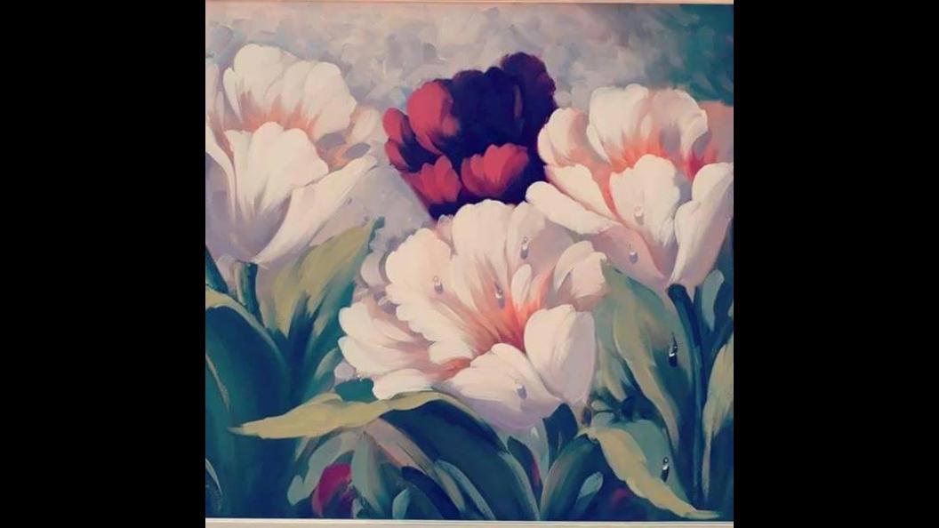 Vídeo com lindas fotos de quadros com desenhos de flores
