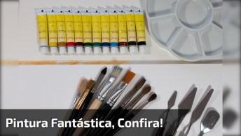 Vídeo Com Pintura De Desenho Fantastico, Vale A Pena Conferir!