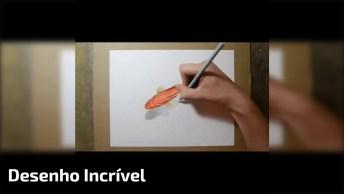 Vídeo Mostra Passo A Passo De Desenho De Golfinho Em 3D, Surpreendente!
