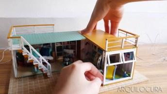 Vídeo Mostrando A Arte De Fazer Miniaturas De Casas Container!