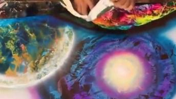 Vídeo Mostrando Arte De Pintar Quadros Com Tinta Spray, É Incrível!