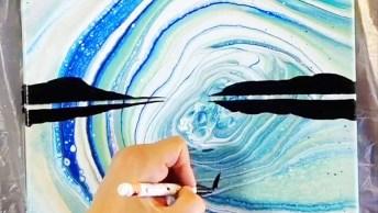 Vídeo Mostrando Belíssimas Obras De Arte Com Diferentes Técnicas!
