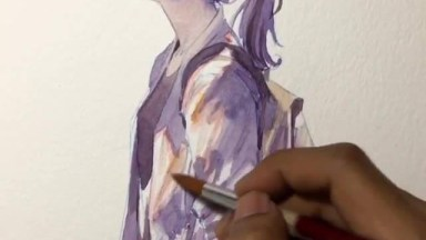 Vídeo Mostrando Pintura De Desenho Maravilhosa, Vale A Pena Conferir!