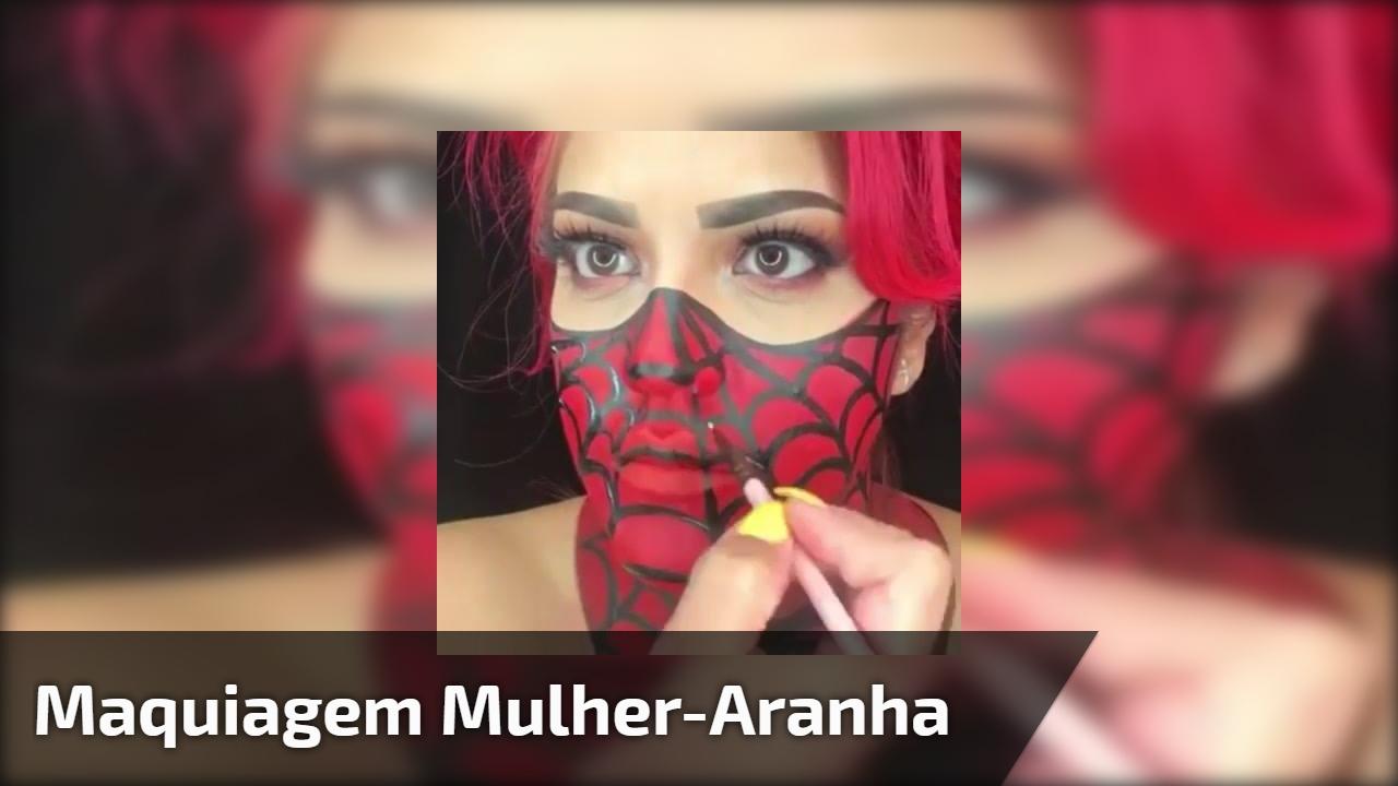 Maquiagem mulher-Aranha