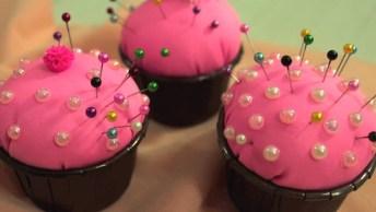 Almofadinhas Cupcakes Para Seus Alfinetes, Que Ideia Legal!