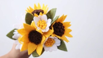 Aprenda A Fazer Flores De Feltros, Um Lindo Artesanato!
