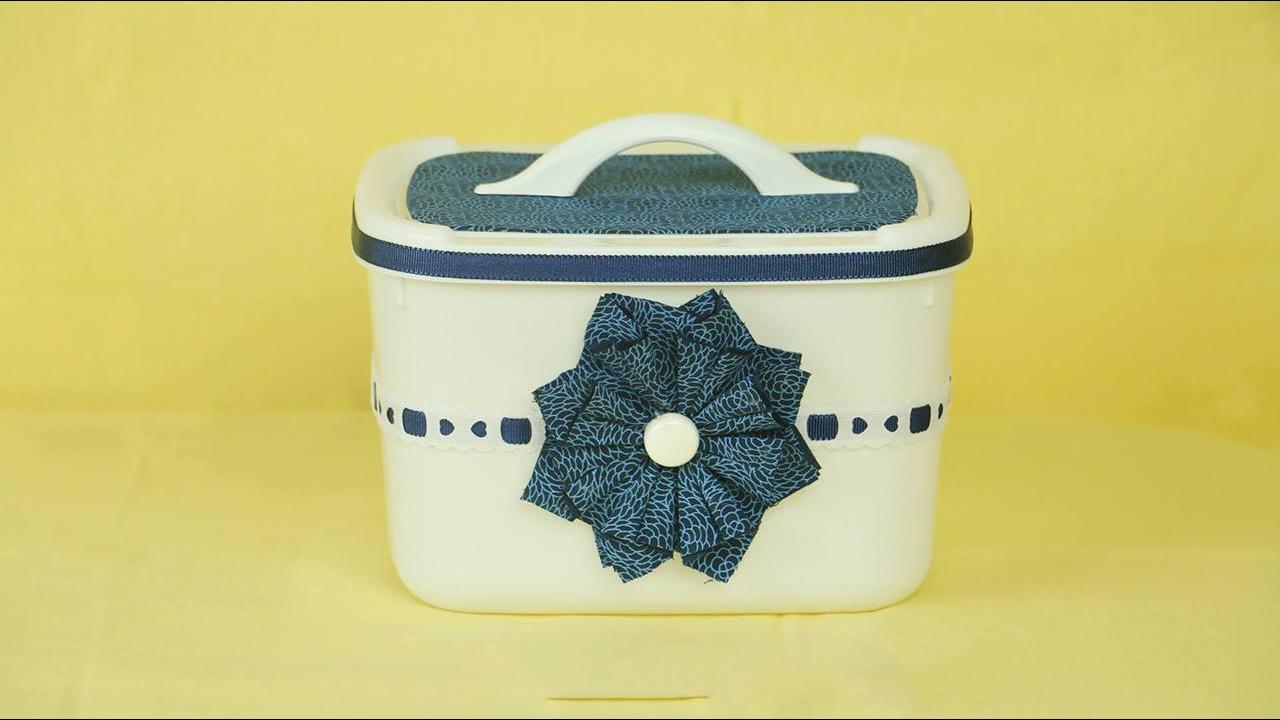 Aprenda a fazer maleta com pote de sorvete