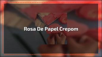 Aprenda A Fazer Rosa De Papel Crepom, Mais Um Lindo Artesanato Para Você!