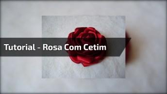 Aprenda A Fazer Rosas Com Cetim, Elas Ficam Muito Lindas!